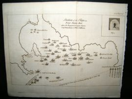 Cape Verde C1770 Naval Plan. Station of Ships, Port Praya Bay Map.